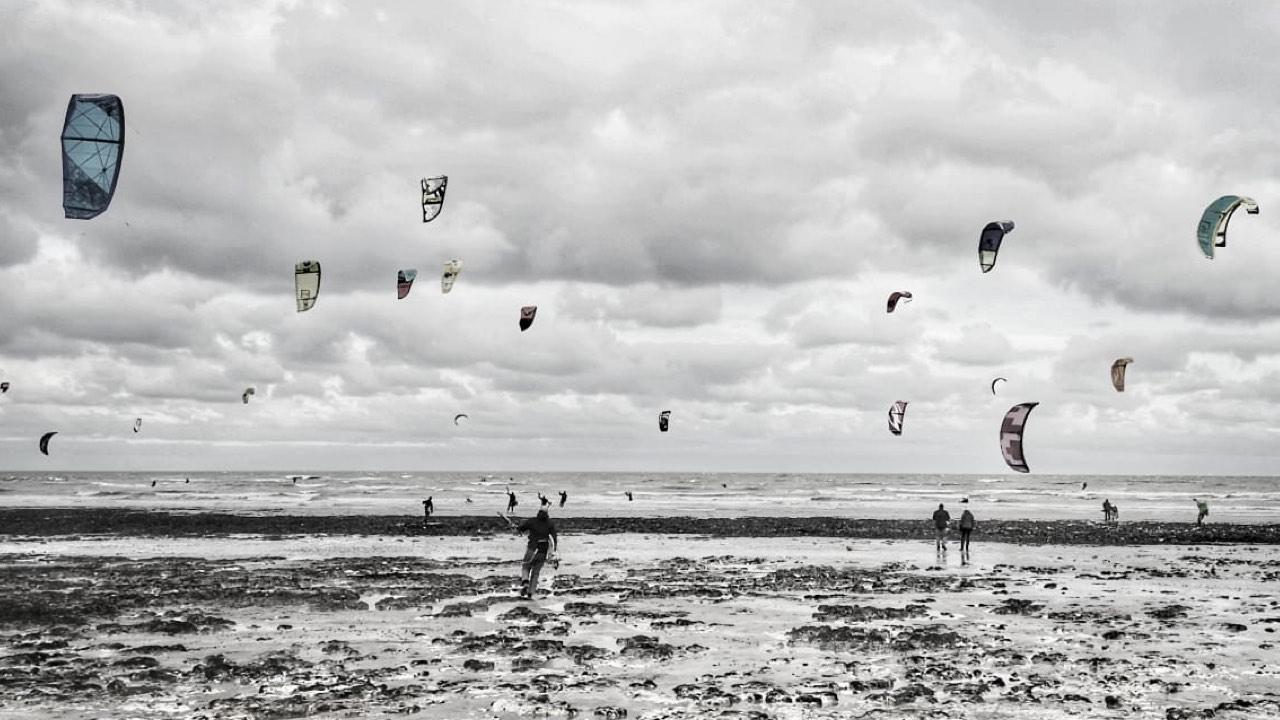 Kitesurfing charity downwinder