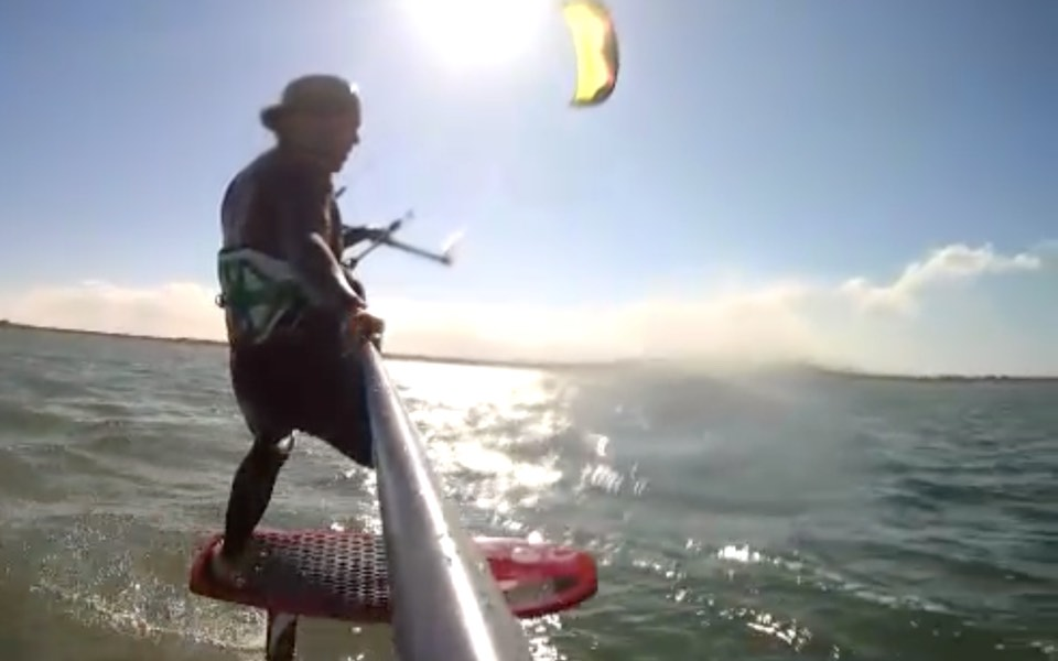 Foiling with a kite