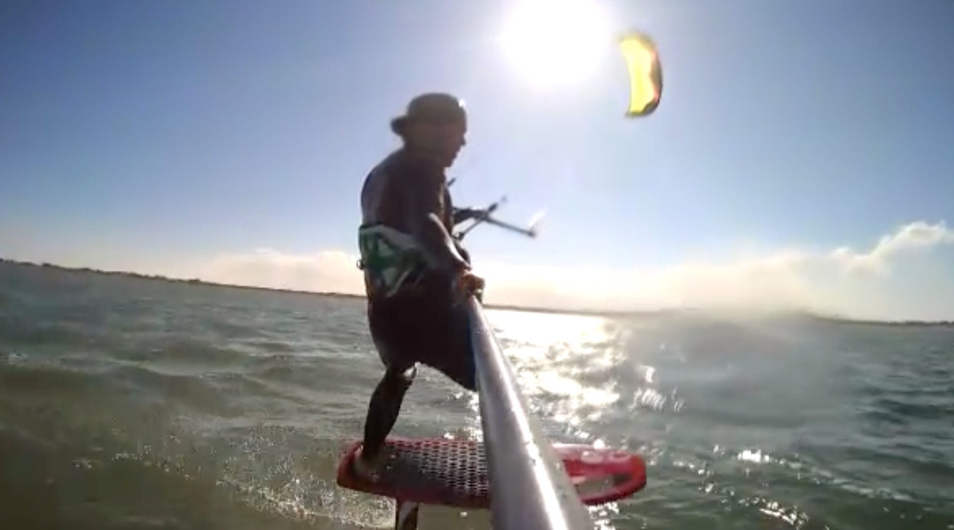 Kite surfing and foiling