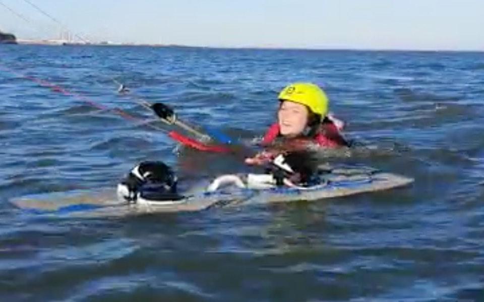 Level 2 kite surfing lesson