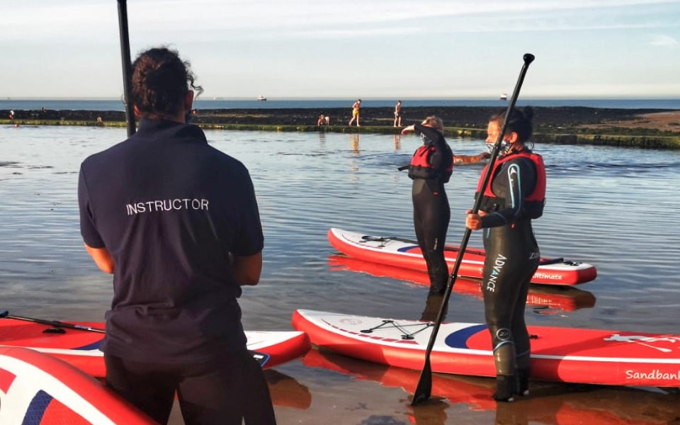 SUP lesson in kent