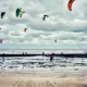 Kitesurfing charity event in kent